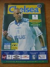 22/10/1998 Chelsea V Copenaghen [Europeo COPPA DELLE COPPE CUP]. nessun difetti evidenti,