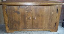 SOLID WOODEN 2DR TV STAND CABINET ENTERTAINMENT UNIT RUSTIC PLANK PINE FURNITURE