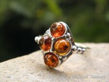 Baltic Amber & 925 SOLID Silver RING (Size 8, P 1/2)    #277074