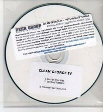 (CH972) Clean George IV, Pets in the Blitz - 2011 DJ CD