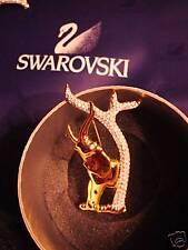 Swarovski Retired 1993 Elephant Pin.18 Kt.Gold Plated