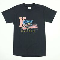 Kenny Wallace Racing T-Shirt Youth / Kids LARGE Vtg 90s Single Stitch Black USA
