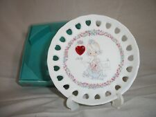 Vintage 1994 Precious Moments Enesco July Birthday Ruby Mini Porcelain Plate
