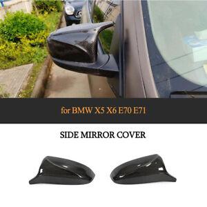 Paar Replacement Carbon Spiegelkappen Für BMW X5 E70 X6 E71 Außenspiegel Mirror