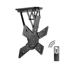 Allcam Electric Motorised TV Bracket Ceiling Mount w/ Storage & Viewing Position