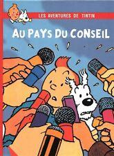 Pastiche Tintin - TINTIN AU PAYS DU CONSEIL - Album cartonné hors commerce