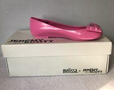 Melissa +Jeremy Scott Flats Pink Space love Free Shipping NiB Size 5