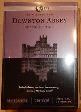 PBS Downtown Abbey Seasons 1 2 3 New Sealed Original UK Edition DVD Set
