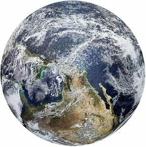 Round Jigsaw Puzzle Educational Game Earth Large 26 Inch 1000 Pieces