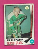 1969-70 OPC # 195 NORTH STARS BILL GOLDSWORTHY GOOD  CARD (INV# C5911)