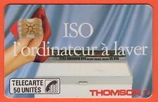 Télécarte 50u, F46Aa, ISO THOMSON, puce SC4ob S/E (sérigraphie), 1989 (Utilisée)