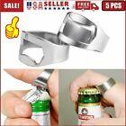 5PC Portable Finger Thumb Ring Bottle Opener Bar Party Stainless Steel Beer Tool