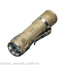 Sunwayman T26C XM-L2 U3 LED Flashlight 800Lm -Available in Black, Tan, & Grey