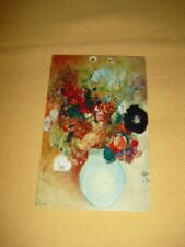 CARTE POSTALE Fleurs Dans Un Vase Vert (Odilon Redon)