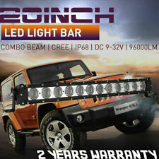 20inch CREE LED Driving Work Light Bar Flood Spot Offroad Black 4WD ATV 96000LM