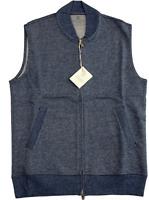 Brunello Cucinelli Interlock Jersey Cotton Gilet West Veste Jacke Jacket new XS