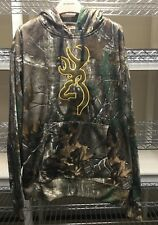New Browning L Realtree Camo Hunt Wasatch Performance Fleece Hoodie Sweatshirt