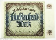 1922 Germany Banknote Uncirculated 5000 Mark P81 Mint Vintage BN 645