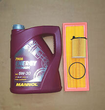 PEUGEOT 207 1.6 HDi (08-) AIR OIL FILTER ENGINE OIL SYNTHETIC 5w30 SERVICE KIT