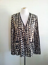 Pure Style! Riani size 44 black/beige & white top in excellent condition
