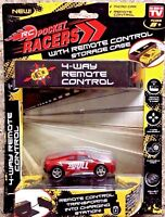 Seen on TV RC Pocket Racers Remote Controlled Micro Race Cars Vehicle Red BULL