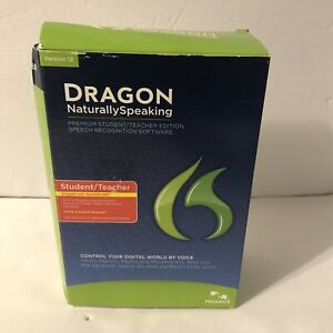 Dragon NaturallySpeaking 12 Premium Student & Teacher Edition Factory Sealed