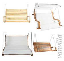 vanvilla Hängesessel für Hollywoodschaukel Holz Gartenschaukel Schaukel Sessel