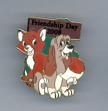 Disney Shopping Friendship Day Fox & the Hound Tod Copper Dog LE 250 Pin