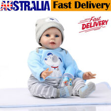 "22"" Baby Reborn Doll Vinyl Silicon Life Like Baby Toddler Girl Boys Kids Reborn"