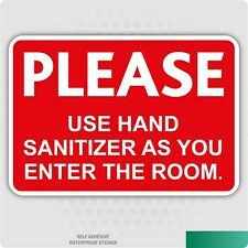 Hand Sanitizer Self-Adhesive Stickers Health & Safety Signs Business HSE