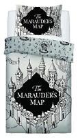 Harry Potter Carte Marauders Simple Housse Couette Blanc Ensemble de Literie