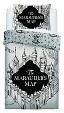 Harry Potter Marauders Map funda Edredón individual blanco juego de cama