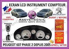 AFFICHEUR ECRAN LCD COMPTEUR ODB PEUGEOT 607 Phase 2 à Partir de 2005*.