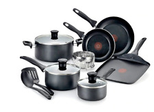 T-fal Pure Cook Nonstick Aluminum 12-Piece Thermo-Spot Cookware Set Pot Fry Pan