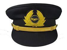 More details for pilot cap with generic cap badge navy blue airline cap r1744