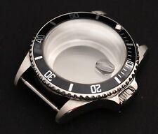 Submariner style watch case ETA 2836 ETA 2824 ST2130 sapphire crystal