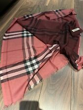 100% Authentic Burberry Check Scarf Wool/silk