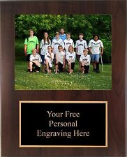 9x12 Personalized Soccer Coach / Sponser Team Photo Plaque- Free Engraving