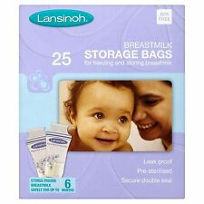 Lansinoh pre-sterilised latte materno BABY latte materno STORAGE BAGS buste 25 pacco