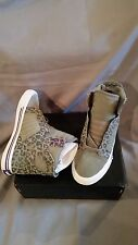 SUPRA SKYTOP GREY CHEETAH PRINT WHITE WOMENS SHOES US SIZE 6 NEW IN BOX