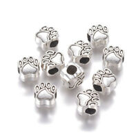 20pc Tibetan Silver European Large Hole Paw Print Beads Lead Free Spacer 11x11mm