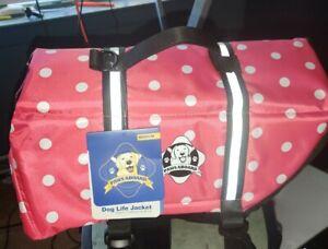 Paws Aboard Dog Life Jacket Pink Polka Dot