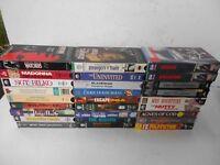 Pulp Fiction Batman Escape From LA Mrs Doubtfire Bilko VHS VCR Tape Lot Of 27
