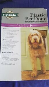 NEW SEALED PetSafe Plastic Pet Door Large HPA11-10968 For Dog/ Animal 1-100lbs