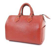 Authentic LOUIS VUITTON Speedy 25 Brown Epi Leather Boston Hand Bag Purse #31247