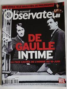 LE NOUVEL OBSERVATEUR : De Gaulle Intime ** Magazine Juin 2010 **
