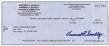 Vin Scully Signed Cut Signature Legendary Dodgers HOF Check Auto Autograph JSA