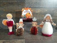 VTG 5 Retro Beistle Co & Amscan USA 1986 Thanksgiving Paper Pop Outs Decorations