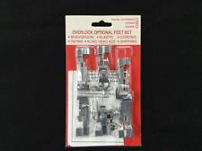 Singer Overlock Feet Foot Kit 14T948, 14T957, & Quantumlock G20806 Set 6 pcs