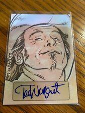 2014 Leaf Masterworks Pop Century Hand Drawn Sketch Ted Nugent 1/1 Autograph